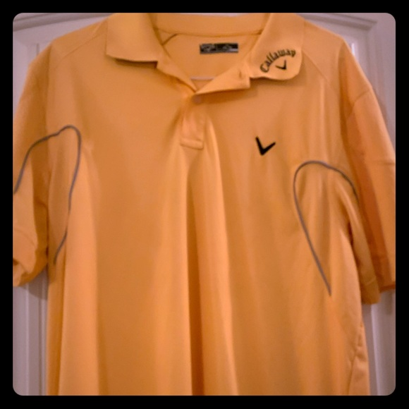 Callaway Yellow Dry Fit Polo Golf Shirt, Like New
